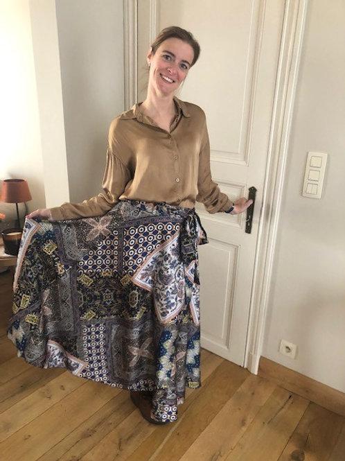 Lange rok met print en diverse kleuren.