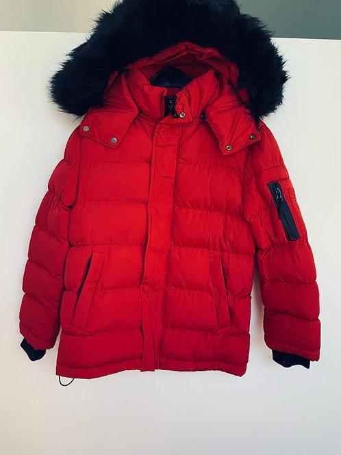 Coole donsjas rood met pels