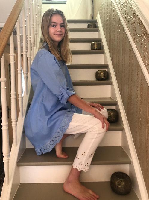 Tuniek/kleed met kant blauw