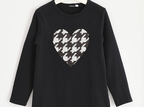 T-shirt lange mouwen zwart