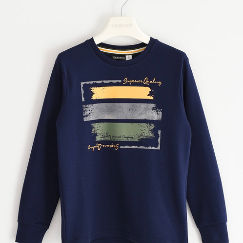 T-shirt lange mouw Sarabanda d.blauw
