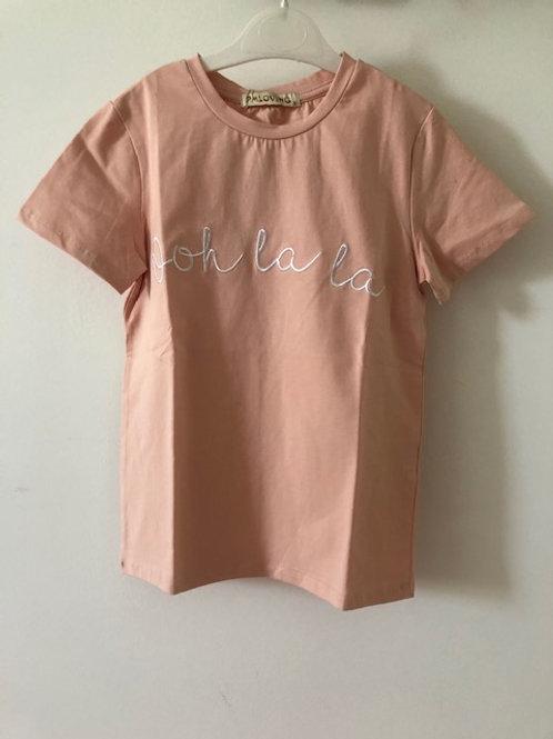 T-shirt Trendy oudroze