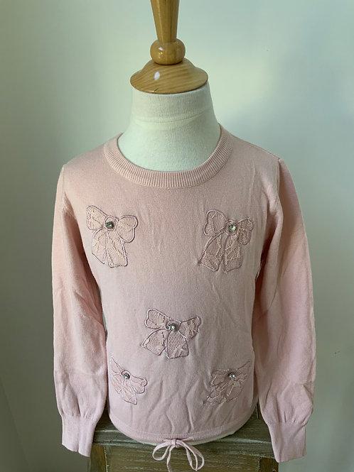 Pull met strikjes roze 🎀