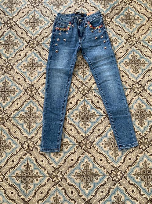 Jeans Trendy met bloemen