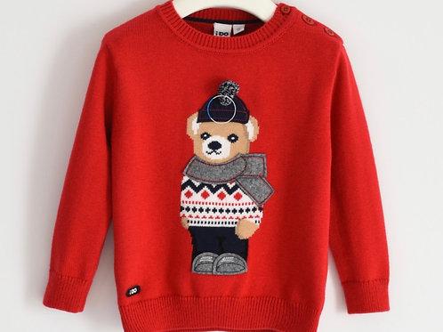 Prachtige pull met beer rood
