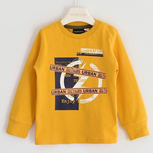 T-shirt lange mouwen Sarabanda okergeel