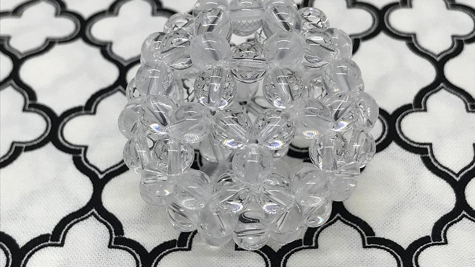 16_ フラーレン メタモルフォーゼス(希少石)&クリスタルクォーツ ラウンドカット(6mm)