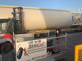 החלפת גלגל לציוד כבד בחיפה