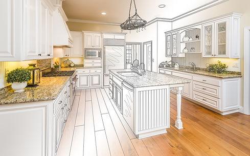 Beautiful Custom Kitchen Design Drawing