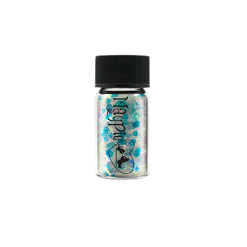 HEXAGONS (FLOSSY) Magpie Glitter Shapes 4g Jar