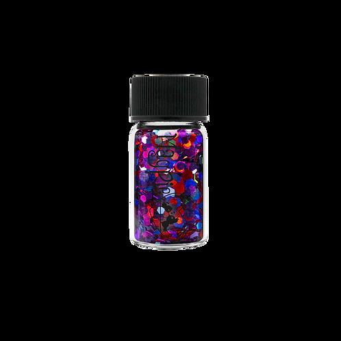 HEXAGONS (FRANKIE) Magpie Glitter Shapes 4g Jar