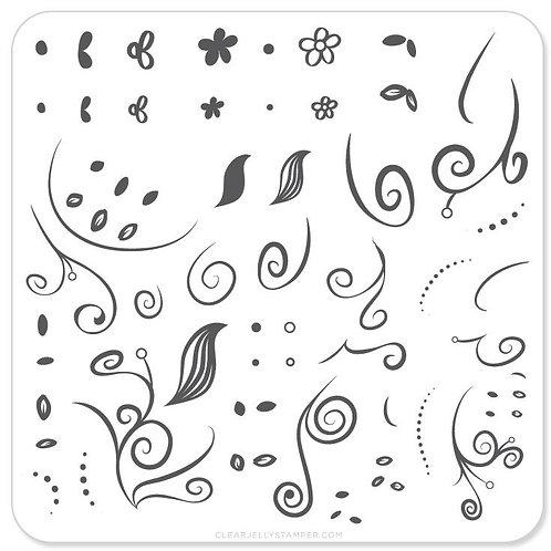 Floral Swirl 1 (CjS-13)