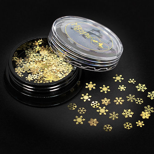 SNOWFLAKES - GOLD Magpie Slices 50 slices Jar