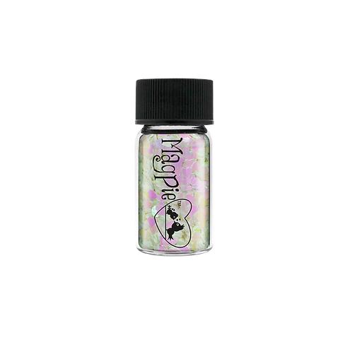 HEARTS - WHITE Magpie Glitter Shapes 4g Jar