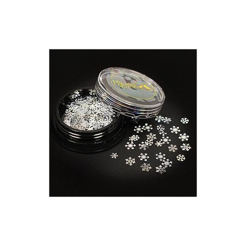 SNOWFLAKES - SILVER Magpie Slices 50 Jar
