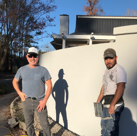 AFTER Stucco Installation service with contractors Raleigh Durham Chapel Hill NC