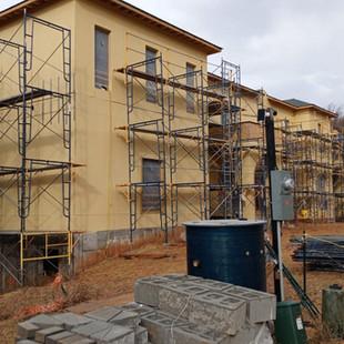 Stucco Repair Work at Stone Residence Ra