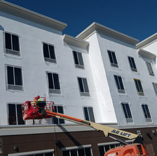 Overlay of EIFS Foam Board to Correct old existing system. EIFS Stucco Installation Repairs