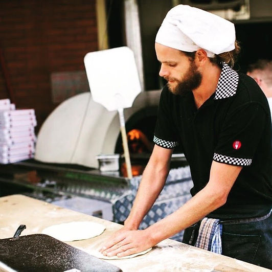 Head Chef Rolling Pizza Bases