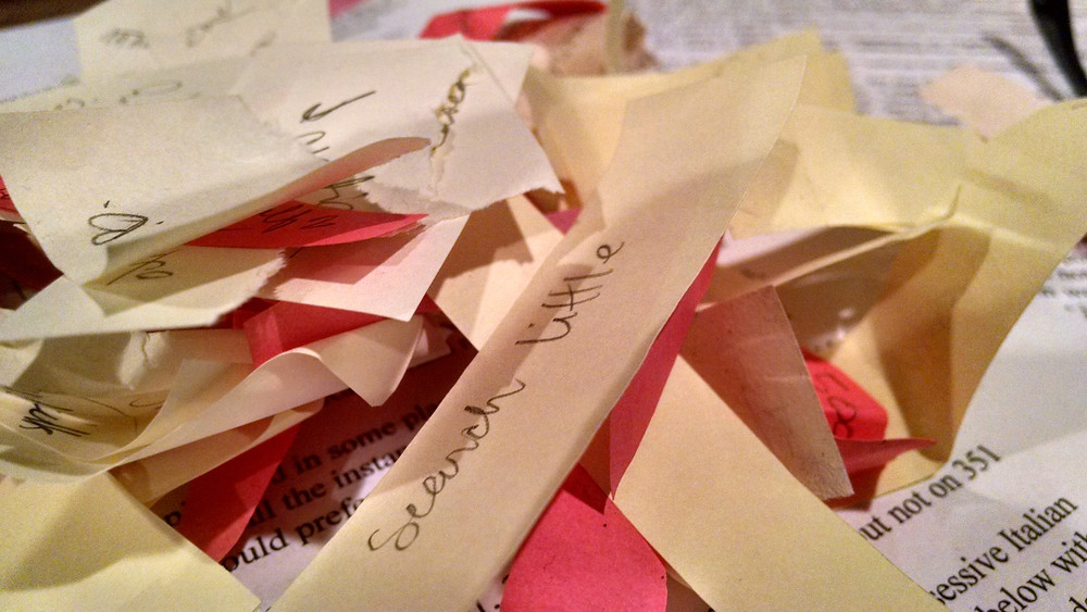 Sticky Note Confetti, Love in the Elephant Tent.jpg