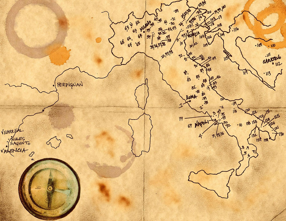 Map of Circus Travels | Love in the Elephant Tent | Kathleen Cremonesi