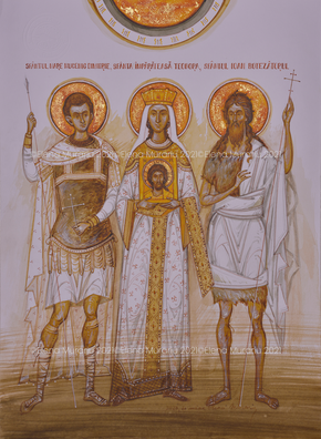 Family's Saints commissioned by the Gorea family