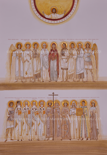 Family's Saints commissioned by the Iorga family