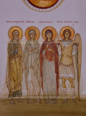 Family's Saints commissioned by the Întorsureanu family