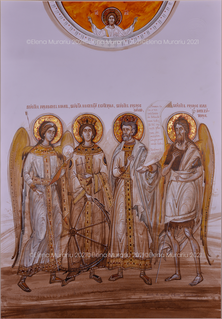 Family's Saints commissioned by the Dumitru family