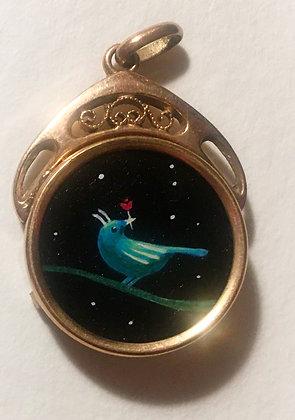 bird lucky charm pendent