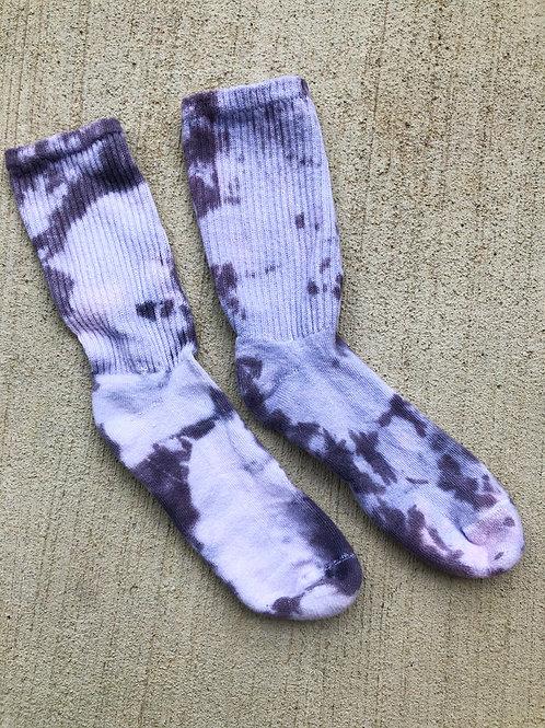 Purple Tie-Dye Socks
