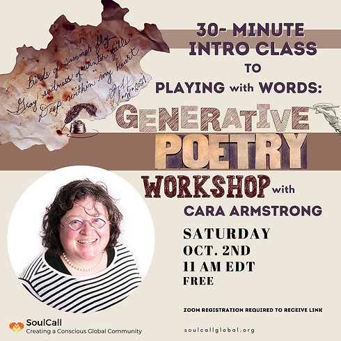 Free, Introduction Class: Generative Poetry with Cara Armstrong