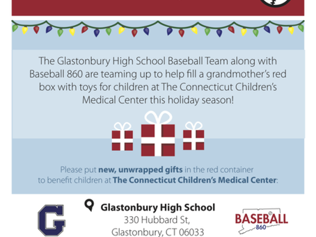 Baseball 860 teams up with the Glastonbury High School Baseball Team for the Holidays!