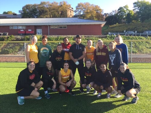 Jack Sundberg Works with Seton Hill Women's Basketball Team