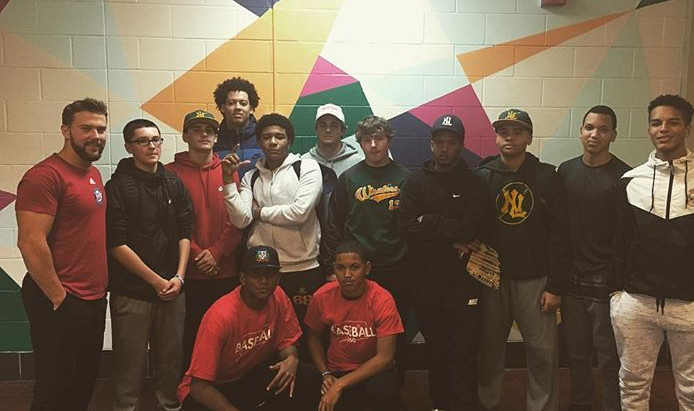Baseball 860 Visits New London High School