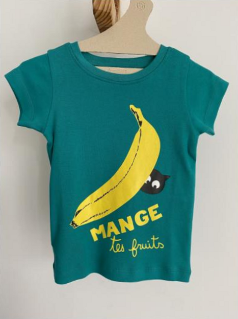 T-shirt vert banane - La Queue du Chat