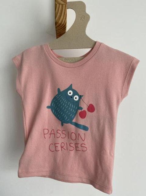 T-shirt rose passion cerises - La Queue du Chat
