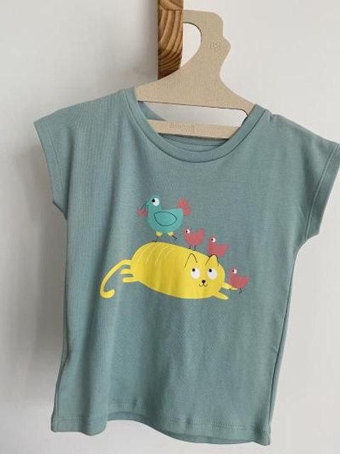 T-shirt bleu cocotte - La Queue du Chat