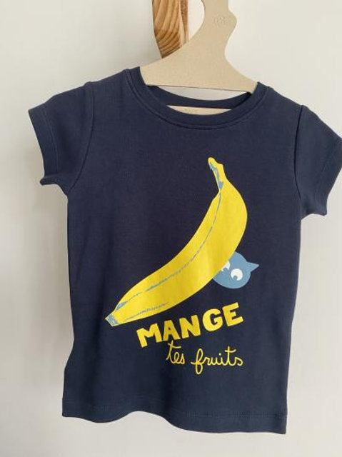 T-shirt bleu banane - La Queue du Chat