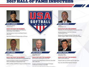 Jimmy Derrick inducted into the USA Softball Hall of Fame