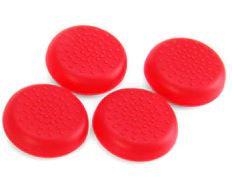 Red Black Soft TPU Thumb Stick Grip Cover Caps