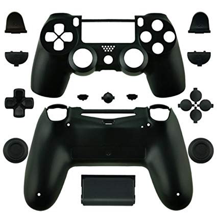 PS4 Controller Full housing shell case - BLACK