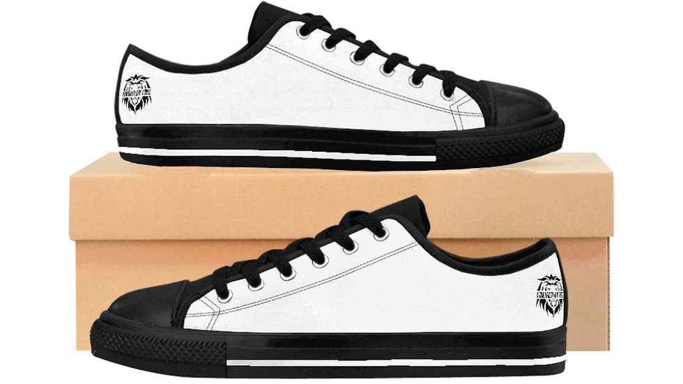 Big Boss: Fire and Gold Men's Low Top Sneakers