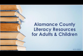 Literacy in Alamance County, A Virtual Panel