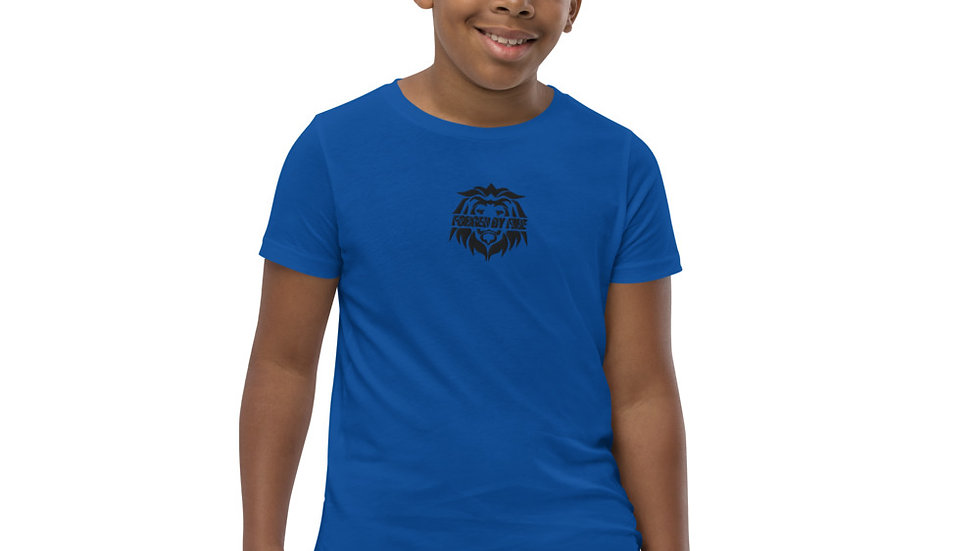 Big Boss: Fire and Gold Youth Unisex Embroidered T-Shirt