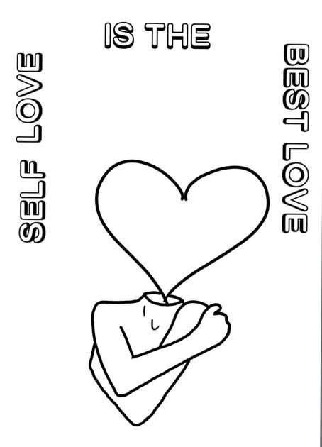 New Coloring Sheet Alert, Self Love