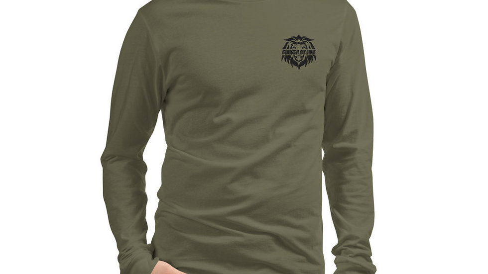 Big Boss: Fire and Gold Unsex Embroidered Long Sleeve Shirt