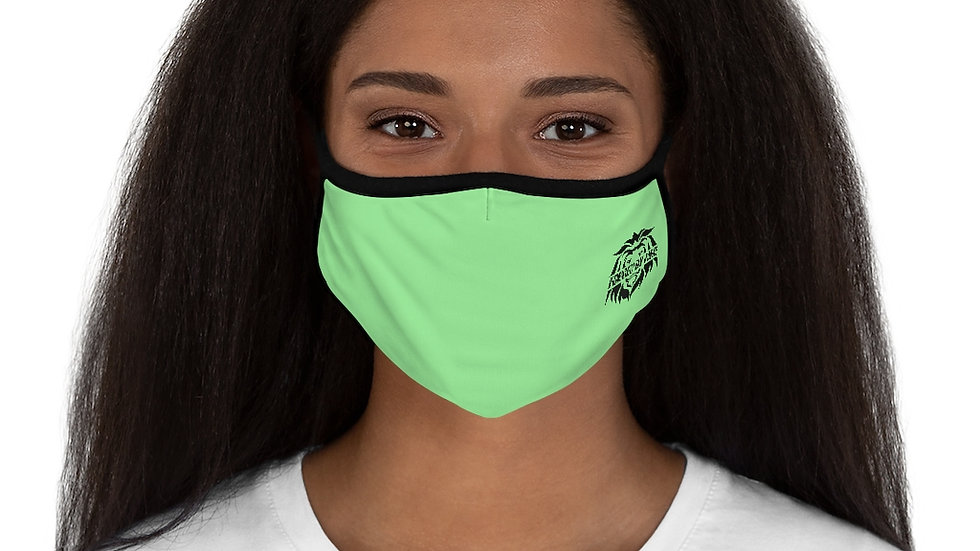 Big Boss Fitted: Fire and Gold Polyester Face Mask