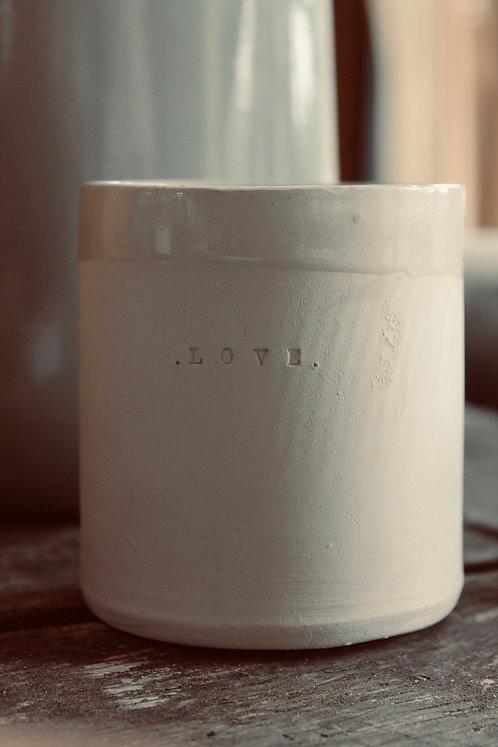 """Bougie artisanale céramique """"LOVE"""""""