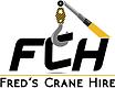 Fred's Crane Hire Logo Colour Yellow & G